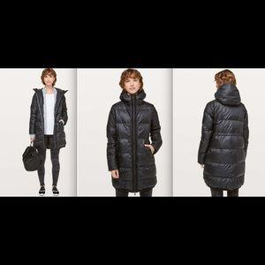 Lululemon Cloudscape Long Jacket In Black sz 4 NWT
